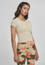 Dámske tričko Urban Classics Ladies Stretch Jersey Cropped Tee concrete