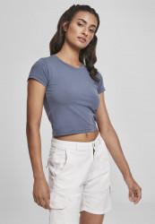 Dámske tričko Urban Classics Ladies Stretch Jersey Cropped Tee vintageblue
