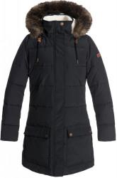 Dámski zimný kabát s kožušinou Roxy Ellie true black