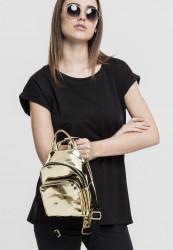 Dámsky Batoh Urban Classics Mini Metallic Backpack zlatý