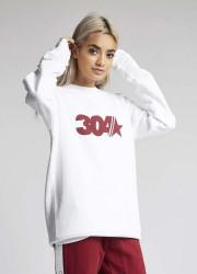 Dámsky biely crewneck 304 Clothing