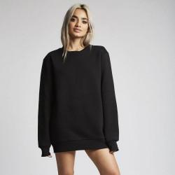 Dámsky čierny crewneck 304 Clothing Basic