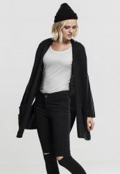 Dámsky čierny sveter Urban Classics Ladies Oversized Cardigan