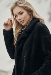 Dámsky kabát URBAN CLASSICS Ladies Oversized Sherpa Coat black