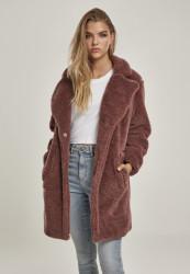Dámsky kabát URBAN CLASSICS Ladies Oversized Sherpa Coat darkrose