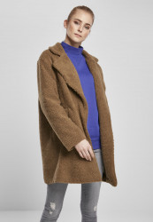 Dámsky kabát URBAN CLASSICS Ladies Oversized Sherpa Coat midground
