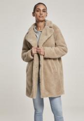 Dámsky kabát URBAN CLASSICS Ladies Oversized Sherpa Coat sand