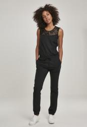 Dámsky overal URBAN CLASSICS Ladies Lace Block Jumpsuit čierny