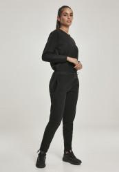 Dámsky overal URBAN CLASSICS Ladies Polar Fleece Jumpsuit čierny