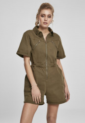 Dámsky overal URBAN CLASSICS Ladies Short Boiler Suit summerolive