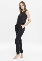 Dámsky overal URBAN CLASSICS Ladies Tech Mesh Long Jumpsuit black
