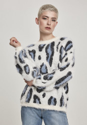 Dámsky sveter Urban Classics Ladies Leo Sweater abstract leo