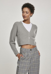 Dámsky sveter Urban Classics Ladies Short Cardigan lightgrey