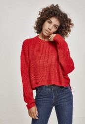 Dámsky sveter Urban Classics Ladies Wide Oversize Sweater fire red