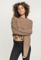 Dámsky sveter Urban Classics Ladies Wide Oversize Sweater taupe