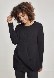 ed608fa88ece Dámsky sveter Urban Classics Ladies Wrapped Sweater čierny