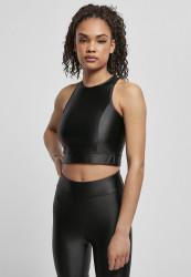 Dámsky top URBAN CLASSICS Ladies Cropped Shiny black Pohlavie: dámske, Size US: XS
