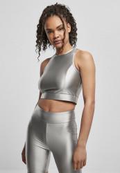 Dámsky top URBAN CLASSICS Ladies Cropped Shiny darksilver Pohlavie: dámske, Size US: XS