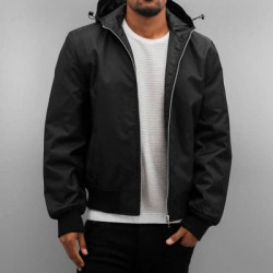 DANGEROUS DNGRS HOODED BOMBER JACKET BLACK