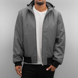 DANGEROUS DNGRS HOODED BOMBER JACKET GREY