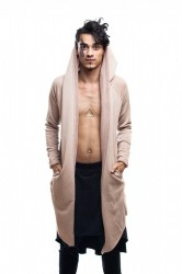 DANNY´S CLOTHING Béžový cardigan UNISEX - S / Barva: Béžová