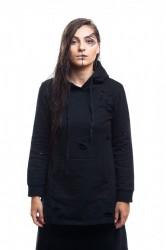 DANNY´S CLOTHING Černá mikina  s kapucí - Černá / Barva: Černá