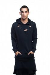 DANNY´S CLOTHING Černá mikina s kapucí UNISEX - M / Barva: Černá