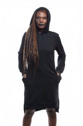 DANNY´S CLOTHING Dlouhá mikina s rozparkem - Černá / Barva: Černá