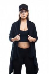 DANNY´S CLOTHING Dlouhý přehoz UNISEX - Černá / Barva: Černá
