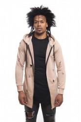 DANNY´S CLOTHING Mikina s kapucí a zipem UNISEX - S / Barva: Béžová