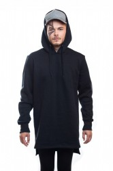 DANNY´S CLOTHING Mikina  s kapucí s rozparkem - S / Barva: Černá