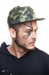 DANNY´S CLOTHING Ripped Snapback Camo - One size / Camo