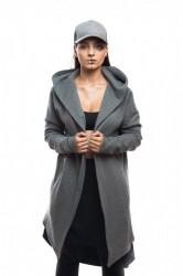 DANNY´S CLOTHING Šedý cardigan UNISEX - L / Barva: Šedá