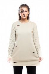 DANNY´S CLOTHING Triko s rozparkem béžové - S / Barva: Béžová, Velikost: XS