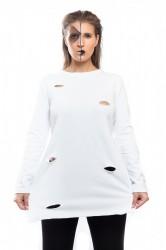 DANNY´S CLOTHING Triko s rozparkem - Bílá / Barva: Bílá