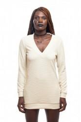 DANNY´S CLOTHING Triko s Véčkem béžové - Béžová / Barva: Béžová