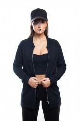 DANNY´S CLOTHING Triko se zipem UNISEX - M / Barva: Černá