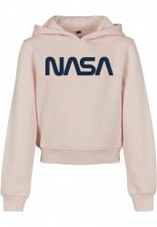Detská mikina MR.TEE  Kids NASA Cropped Hoody Farba: pink,