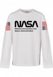 Detská mikina MR.TEE Kids NASA Worm Longsleeve white Farba: white,