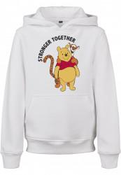 Detská mikina MR.TEE Kids Stronger Together Farba: white, Grösse: 158/164