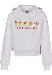 Detská mikina MR.TEE Kids Yoga Every Day Cropped Farba: white, Grösse: 158/164
