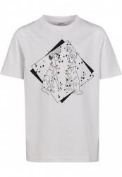 Detské tričko MR.TEE Kids 101 Dalmatiner Couple Tee Farba: white,