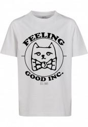 Detské tričko MR.TEE Kids Feeling Good Tee Farba: white, Grösse: 158/164