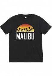 Detské tričko MR.TEE Kids Malibu Tee Farba: black,