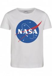 Detské tričko MR.TEE Kids NASA Insignia Short Sleeve Tee Farba: white, Grösse: 122/128