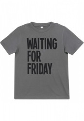 Detské tričko MR.TEE Kids Waiting For Friday Tee Farba: heather grey,