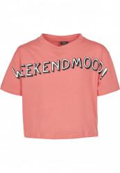 Detské tričko MR.TEE Kids Weekend Mood Tee Farba: pink, Grösse: 158/164