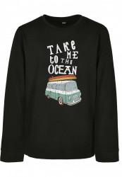 Detské tričko s dlhým rukávom MR.TEE Kids Take Me To The Ocean Longsleeve Farba: black,