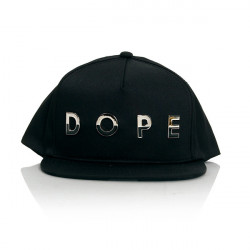 Dope Dipped Metal Snapback Black - UNI