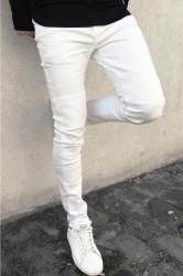 Jeans Sixth June Biker White Farba: Biela,